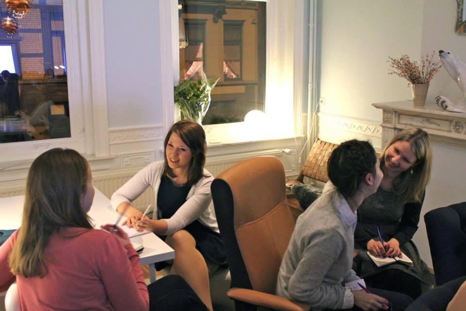 Participants putting Elizabeth's advice into action