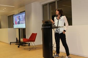 Laura Hemmati at Microsoft Executive Briefing Centre