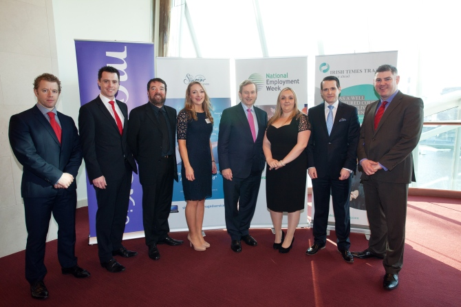 Marina at 2014's National Employment Week with the Taoiseach, Enda Kenny